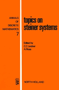Topics on Steiner Systems - 1st Edition - ISBN: 9780444854841, 9780080867700
