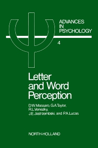 Letter and Word Perception - 1st Edition - ISBN: 9780444854933, 9780080866581