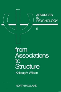 From Associations to Structure - 1st Edition - ISBN: 9780444860439, 9780080866604