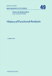 Cover image for History of Functional Analysis