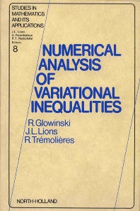 Numerical Analysis of Variational Inequalities - 1st Edition - ISBN: 9780444861993, 9780080875293