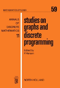 Studies on Graphs and Discrete Programming - 1st Edition - ISBN: 9780444862167, 9780080871707