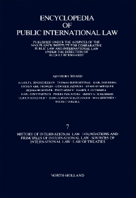 History of International Law · Foundations and Principles of International Law · Sources of International Law · Law of Treaties - 1st Edition - ISBN: 9780444862389, 9781483257013