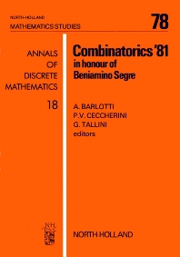 Combinatorics '81 - 1st Edition - ISBN: 9780444865465, 9780080871899