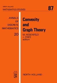 Convexity and Graph Theory - 1st Edition - ISBN: 9780444865717, 9780080871981