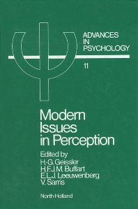 Modern Issues in Perception - 1st Edition - ISBN: 9780444866325, 9780080866659