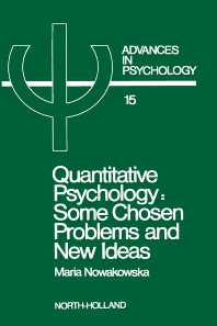 Quantitative Psychology - 1st Edition - ISBN: 9780444867087, 9780080866697