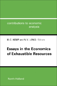 Cover image for Essays in the Economics of Exhaustible Resources