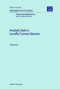Cover image for Analytic Sets in Locally Convex Spaces