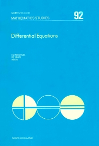 Differential Equations - 1st Edition - ISBN: 9780444868756, 9780080872032