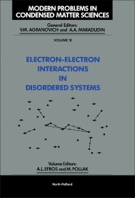Cover image for Electron-Electron Interactions in Disordered Systems