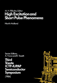 High Excitation and Short Pulse Phenomena - 1st Edition - ISBN: 9780444869319, 9780444600189