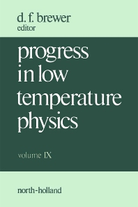 Progress in Low Temperature Physics - 1st Edition - ISBN: 9780444869548, 9780080873046