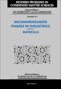 Incommensurate Phases in Dielectrics - 1st Edition - ISBN: 9780444869708, 9780444598318
