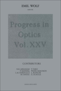 Progress in Optics - 1st Edition - ISBN: 9780444870766, 9780080962863