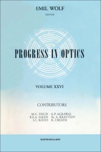 Progress in Optics - 1st Edition - ISBN: 9780444870964, 9780080887661