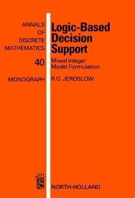 Logic-Based Decision Support - 1st Edition - ISBN: 9780444871190, 9780080867809