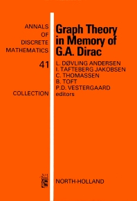 Graph Theory in Memory of G.A. Dirac - 1st Edition - ISBN: 9780444871299, 9780080867816