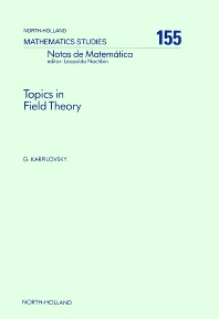 Cover image for Topics in Field Theory