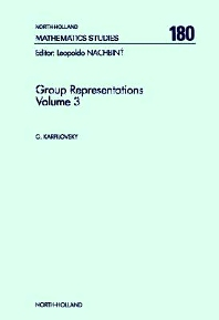 Group Representations - 1st Edition - ISBN: 9780444874337, 9780080872919