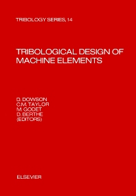 Cover image for Tribological Design of Machine Elements
