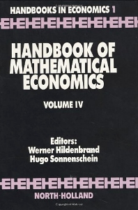 Handbook of Mathematical Economics, 1st Edition,W. Hildenbrand,H. Sonnenschein,ISBN9780444874610