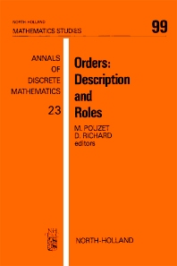 Orders: Description and Roles - 1st Edition - ISBN: 9780444876010, 9780080872100