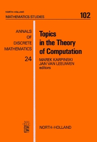 Cover image for Topics in the Theory of Computation