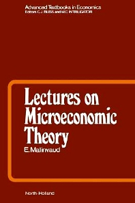 Lectures on Microeconomic Theory, 2nd Edition,E. Malinvaud,ISBN9780444876508