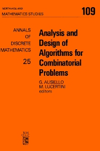 Analysis and Design of Algorithms for Combinatorial Problems - 1st Edition - ISBN: 9780444876997, 9780080872209