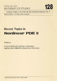 Cover image for Recent Topics in Nonlinear PDE II