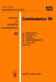 Combinatorics '84 - 1st Edition - ISBN: 9780444879622, 9780080872346