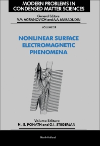 Nonlinear Surface Electromagnetic Phenomena - 1st Edition - ISBN: 9780444883599, 9780444600523