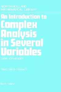 Cover image for An Introduction to Complex Analysis in Several Variables