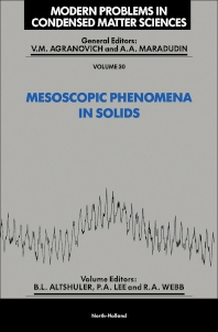 Mesoscopic Phenomena in Solids - 1st Edition - ISBN: 9780444884541, 9780444600417