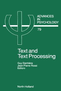 Text and Text Processing - 1st Edition - ISBN: 9780444884848, 9780080867335
