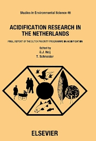 Acidification Research in the Netherlands - 1st Edition - ISBN: 9780444888310, 9780080875057