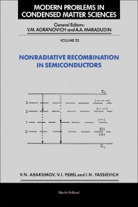 Nonradiative Recombination in Semiconductors - 1st Edition - ISBN: 9780444888549, 9780444600820