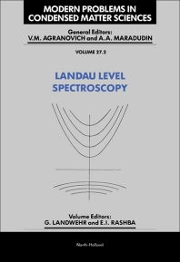 Landau Level Spectroscopy - 1st Edition - ISBN: 9780444888730, 9780444600431