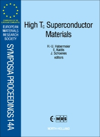 Cover image for High T<sub>c</sub> Superconductor Materials