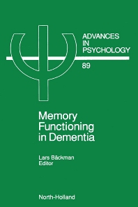 Memory Functioning in Dementia - 1st Edition - ISBN: 9780444889201, 9780080867434