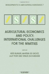 Cover image for Agricultural Economics and Policy: International Challenges for the Nineties