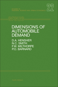 Dimensions of Automobile Demand - 1st Edition - ISBN: 9780444889850, 9781483291192
