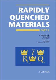 Rapidly Quenched Materials - 1st Edition - ISBN: 9780444891075, 9780080984605