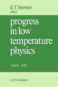 Progress in Low Temperature Physics - 1st Edition - ISBN: 9780444891099, 9780080873084
