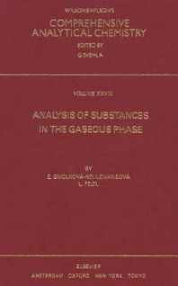 Cover image for Analysis of Substances in the Gaseous Phase