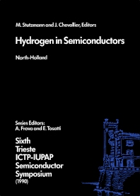 Hydrogen in Semiconductors - 1st Edition - ISBN: 9780444891389, 9780444598837