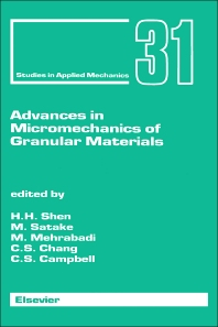 Cover image for Advances in Micromechanics of Granular Materials
