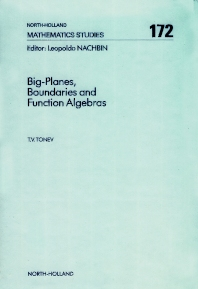 Cover image for Big-Planes, Boundaries and Function Algebras