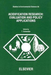 Acidification Research: Evaluation and Policy Applications - 1st Edition - ISBN: 9780444893062, 9780080875095
